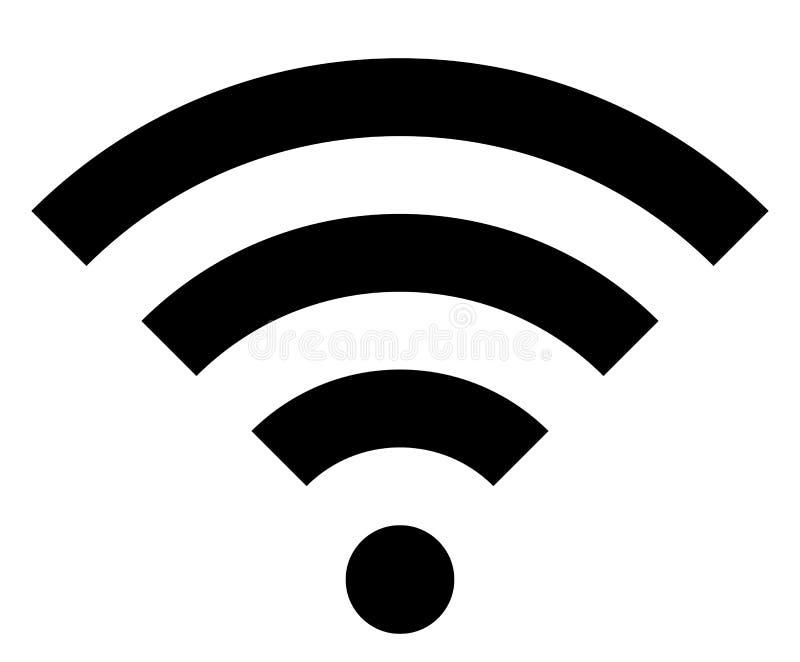 Icône de symbole de Wifi - simple noir, d'isolement - vecteur illustration de vecteur