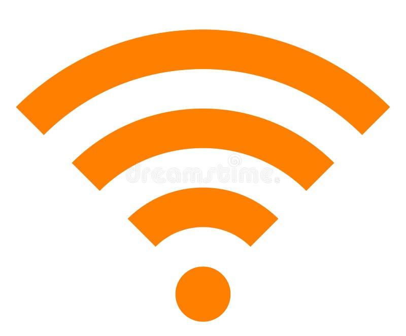 Icône de symbole de Wifi - simple orange, d'isolement - vecteur illustration de vecteur