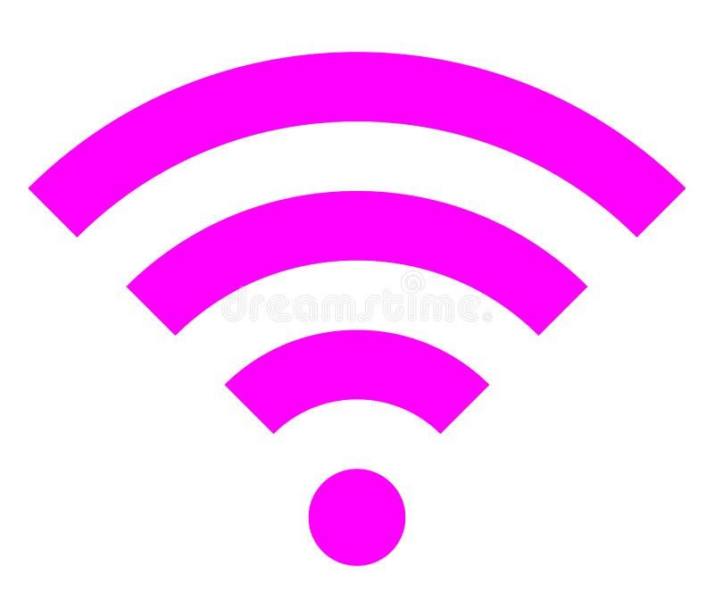 Icône de symbole de Wifi - simple pourpre, d'isolement - vecteur illustration libre de droits