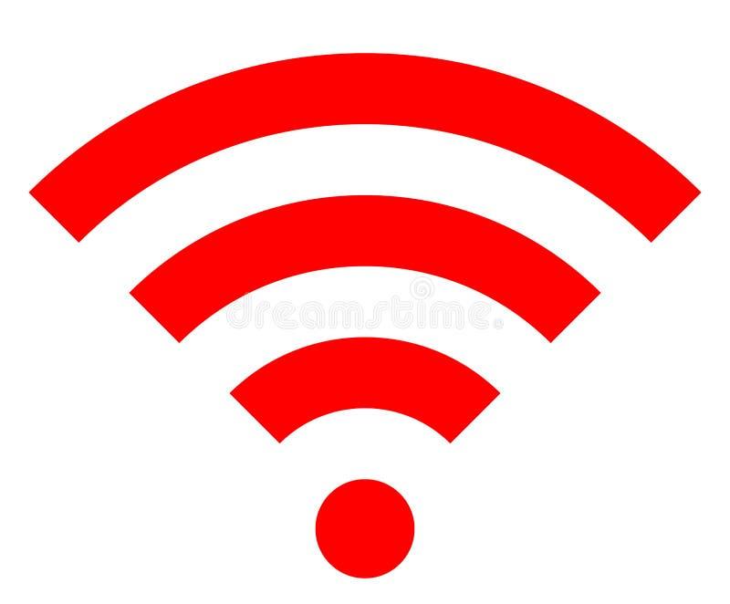 Icône de symbole de Wifi - simple rouge, d'isolement - vecteur illustration de vecteur