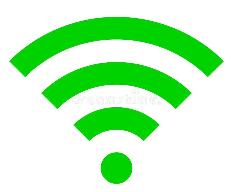 Icône de symbole de Wifi - simple vert, d'isolement - vecteur illustration stock