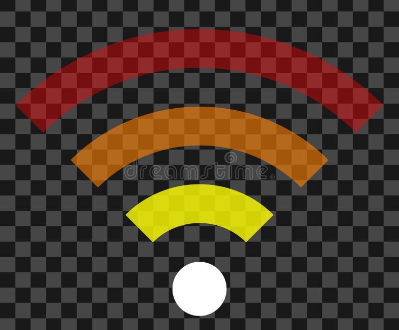 Icône de symbole de Wifi - transparent simple coloré, d'isolement - vecteur illustration libre de droits
