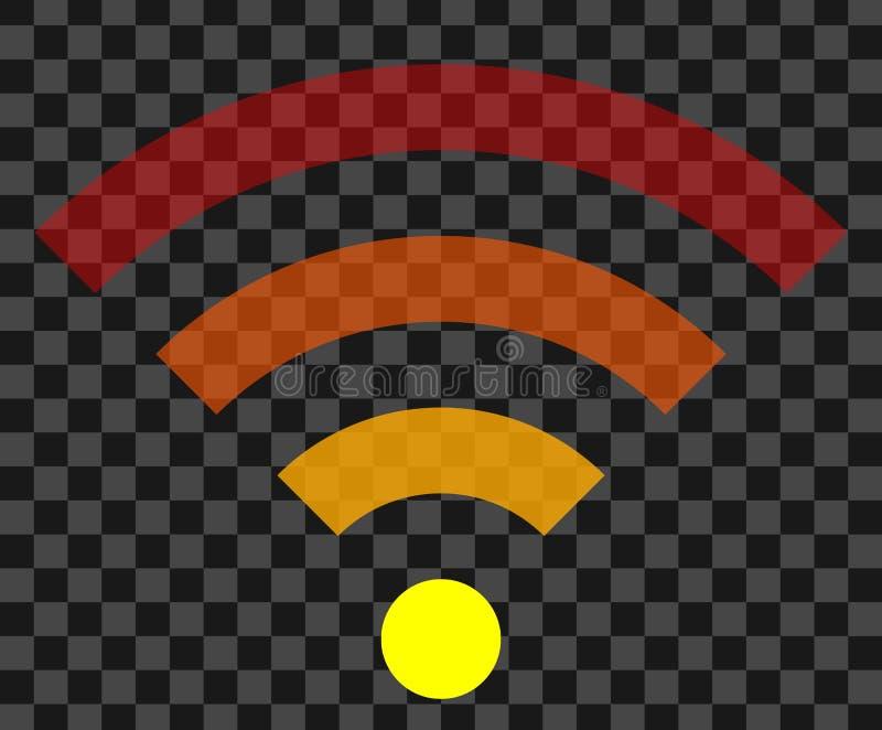 Icône de symbole de Wifi - transparent simple coloré, d'isolement - vecteur illustration de vecteur