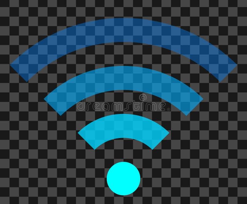 Icône de symbole de Wifi - transparent simple coloré, d'isolement - vecteur illustration stock