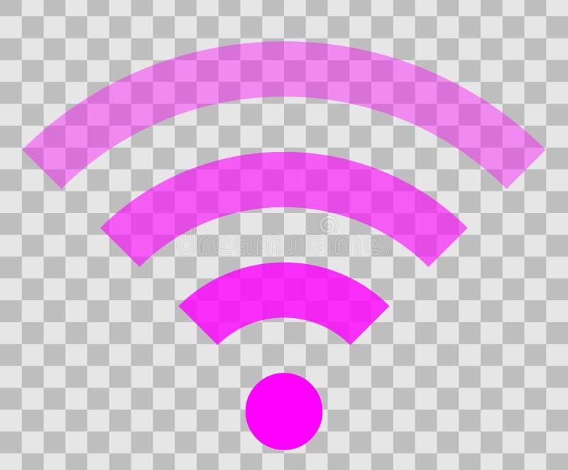 Icône de symbole de Wifi - transparent simple pourpre, d'isolement - vecteur illustration de vecteur