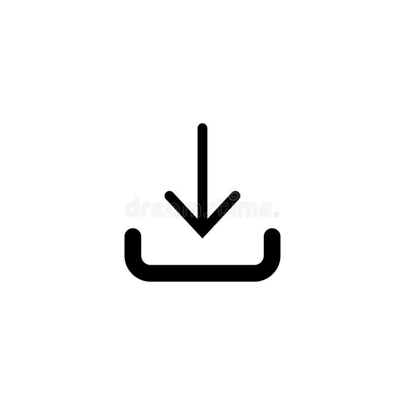 Icône de téléchargement dans le style plat à la mode d'isolement sur le fond blanc, pour votre conception de site Web Dirigez l'i illustration libre de droits