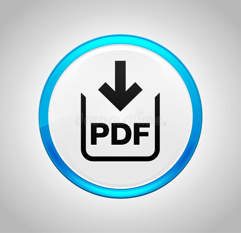 Icône de téléchargement de document de pdf autour de bouton poussoir bleu illustration libre de droits