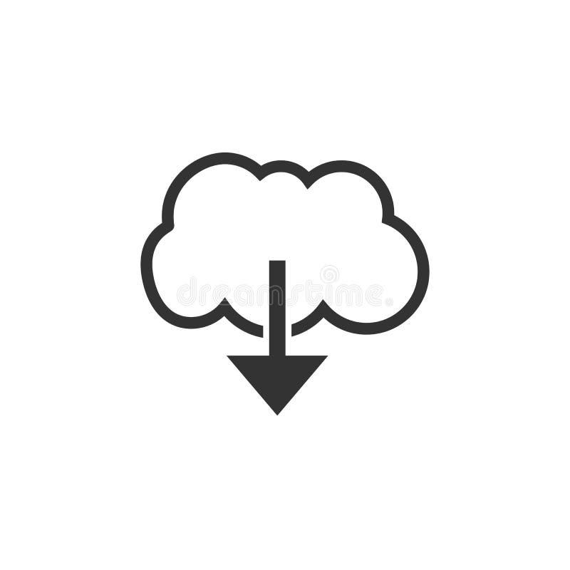 icône de téléchargement de nuage Illustration de vecteur Conception plate illustration libre de droits