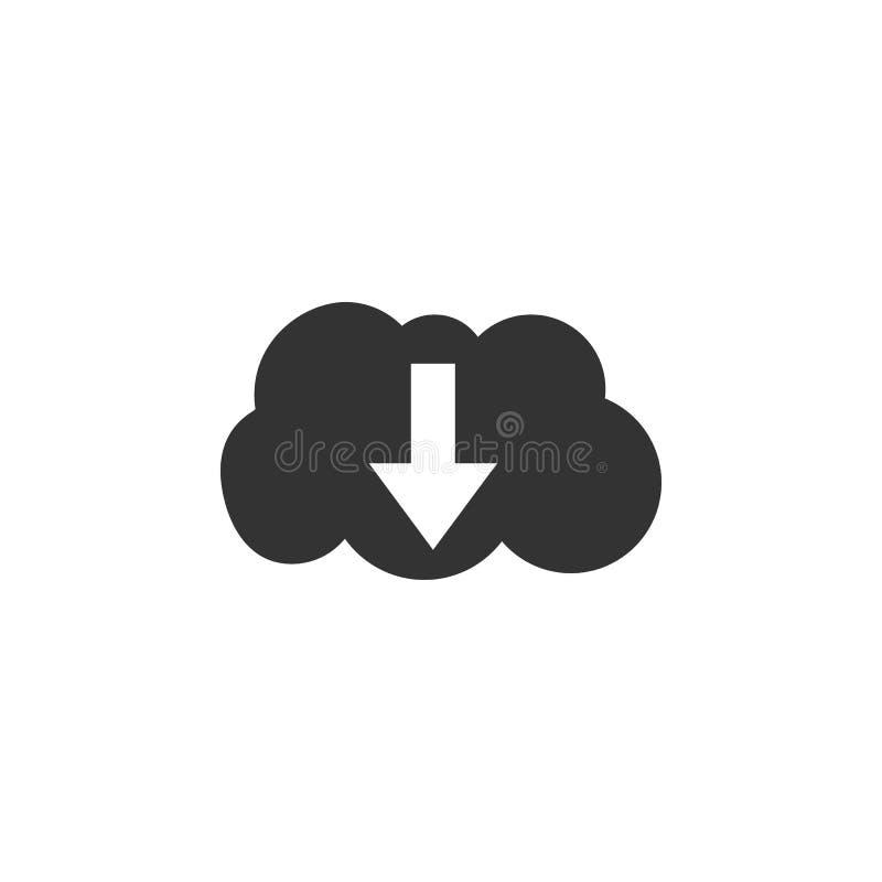 icône de téléchargement de nuage Illustration de vecteur Conception plate illustration de vecteur