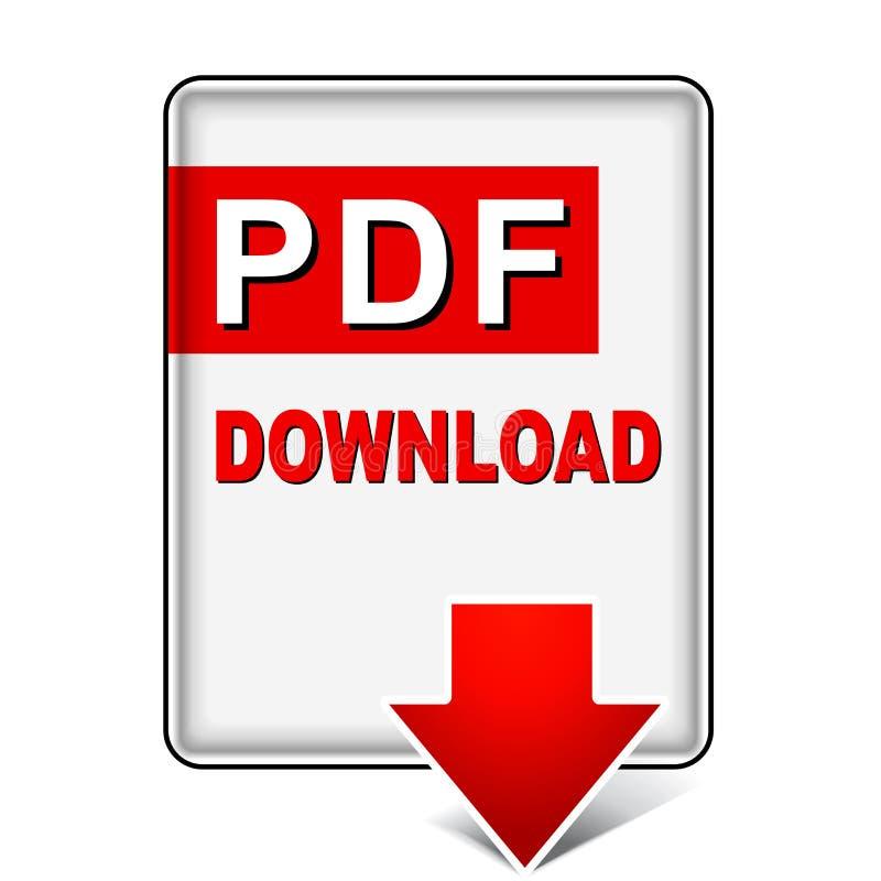 Icône de téléchargement de PDF illustration stock