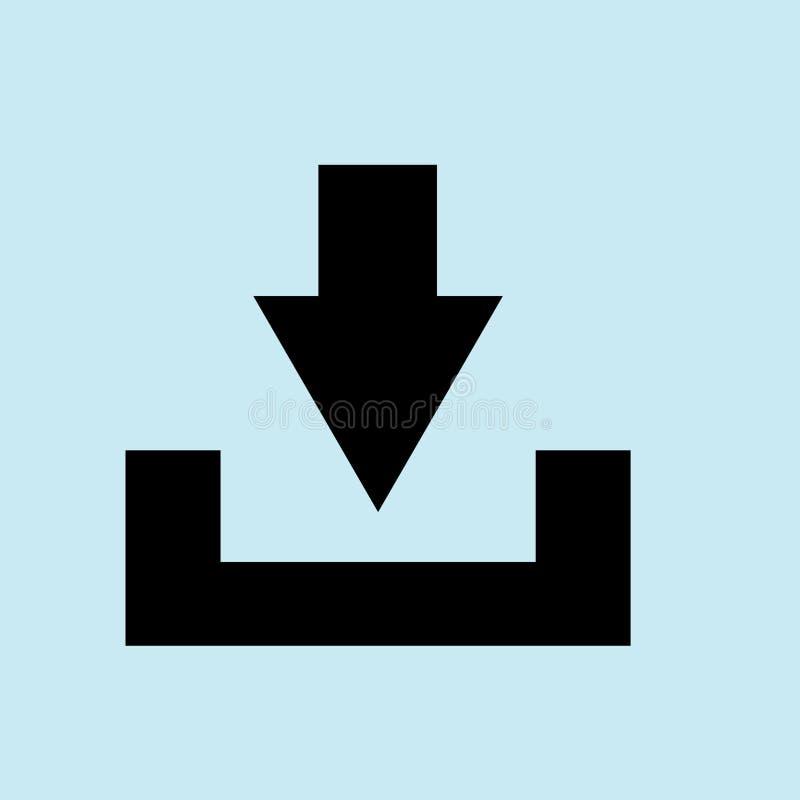 icône de téléchargement, vecteur bleu de fond photo stock
