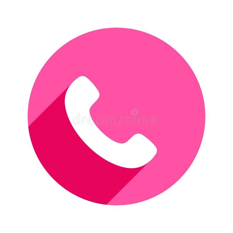 Icône de téléphone dans le style plat à la mode d'isolement Icône de combiné Téléphonez au symbole pour votre conception, le logo illustration libre de droits