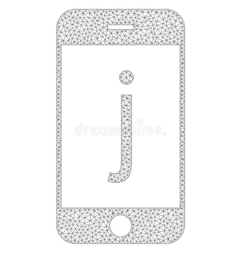 Icône de téléphone de Mesh Vector J illustration stock