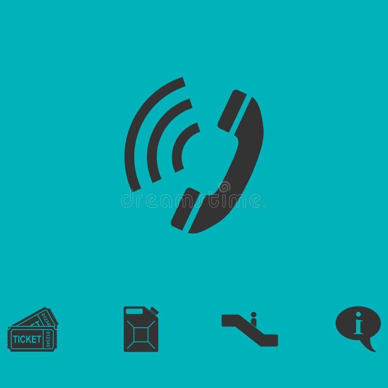 Icône de téléphone plate illustration de vecteur