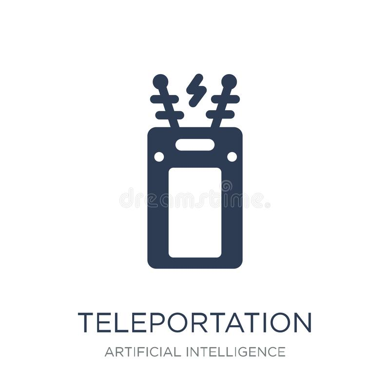 Icône de téléportation Icône plate à la mode de téléportation de vecteur sur le whi illustration de vecteur