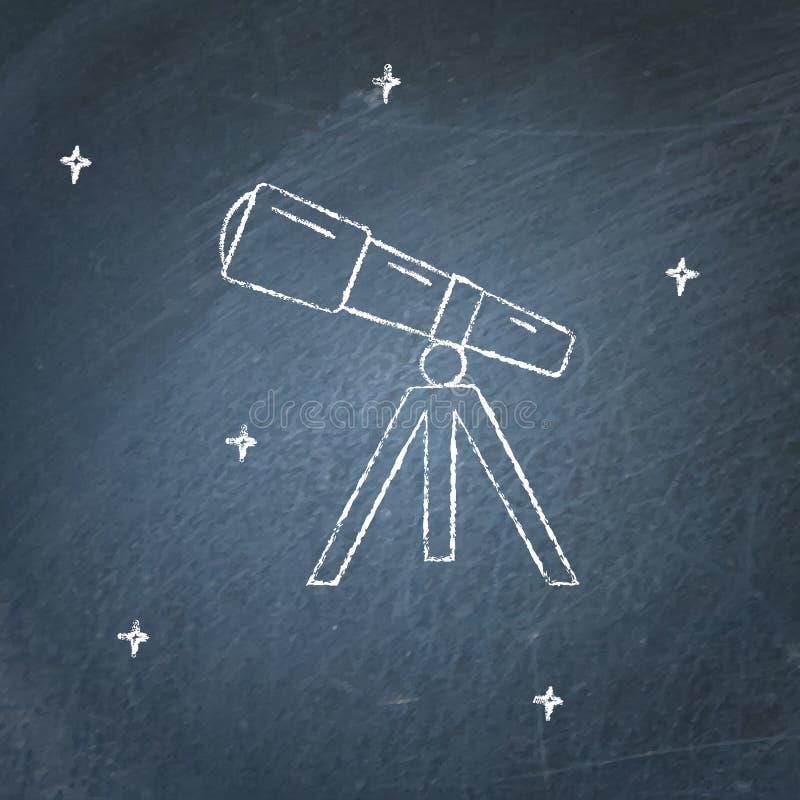 Icône de télescope sur le tableau illustration de vecteur