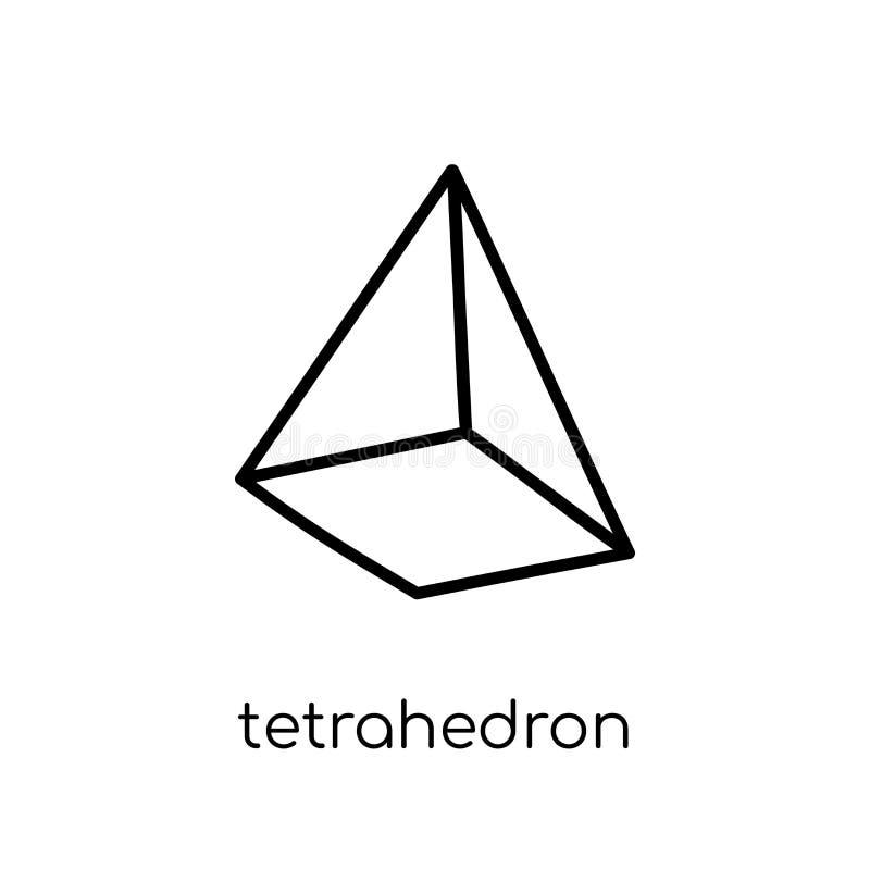 Icône de tétraèdre de collection de la géométrie illustration libre de droits