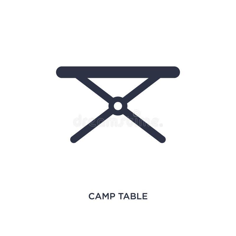 icône de table de camp sur le fond blanc Illustration simple d'élément de concept campant illustration libre de droits