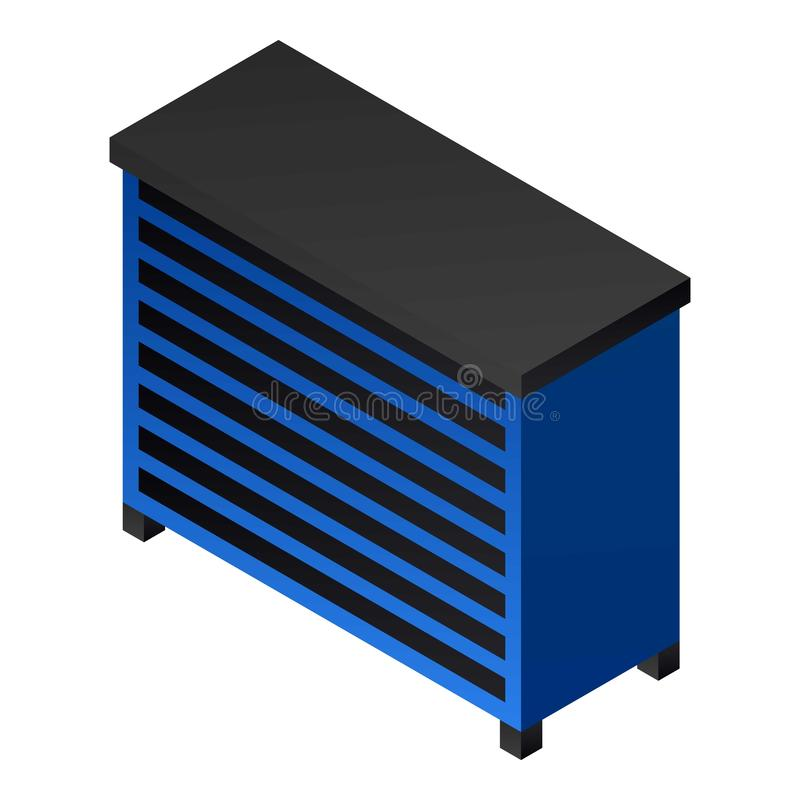 Icône de table de garage en métal, style isométrique illustration libre de droits