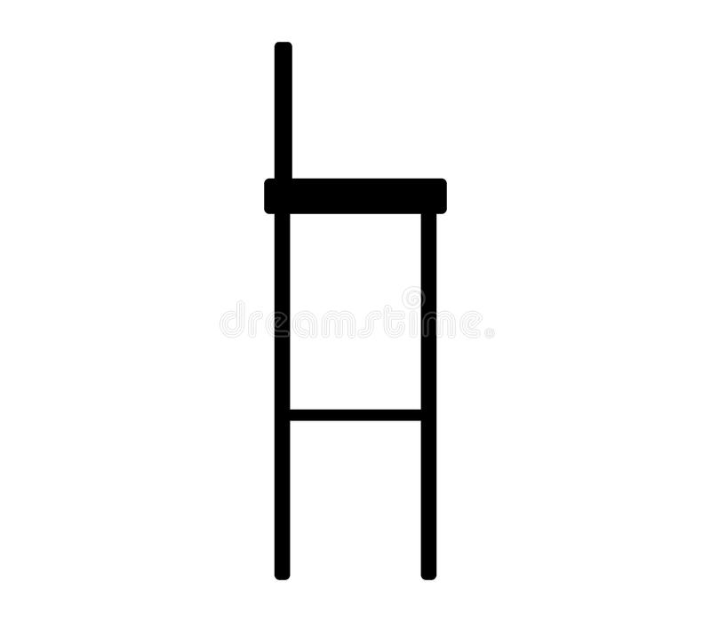 Icône de tabouret de bar illustration stock