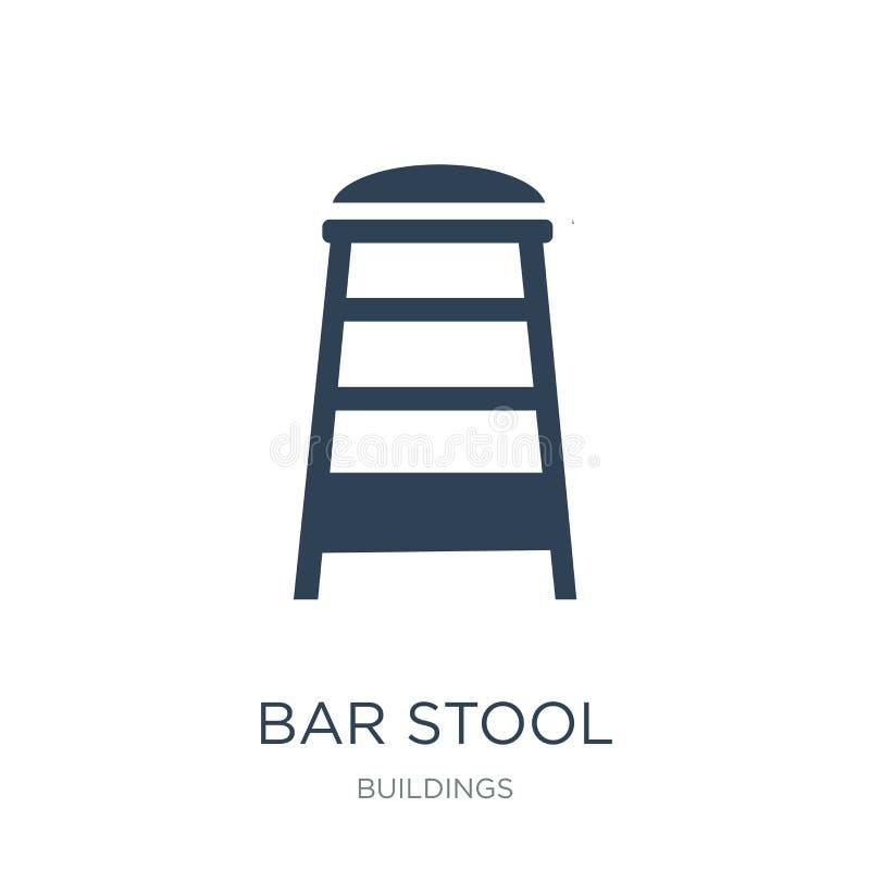 icône de tabouret de bar dans le style à la mode de conception icône de tabouret de bar d'isolement sur le fond blanc appartement illustration libre de droits