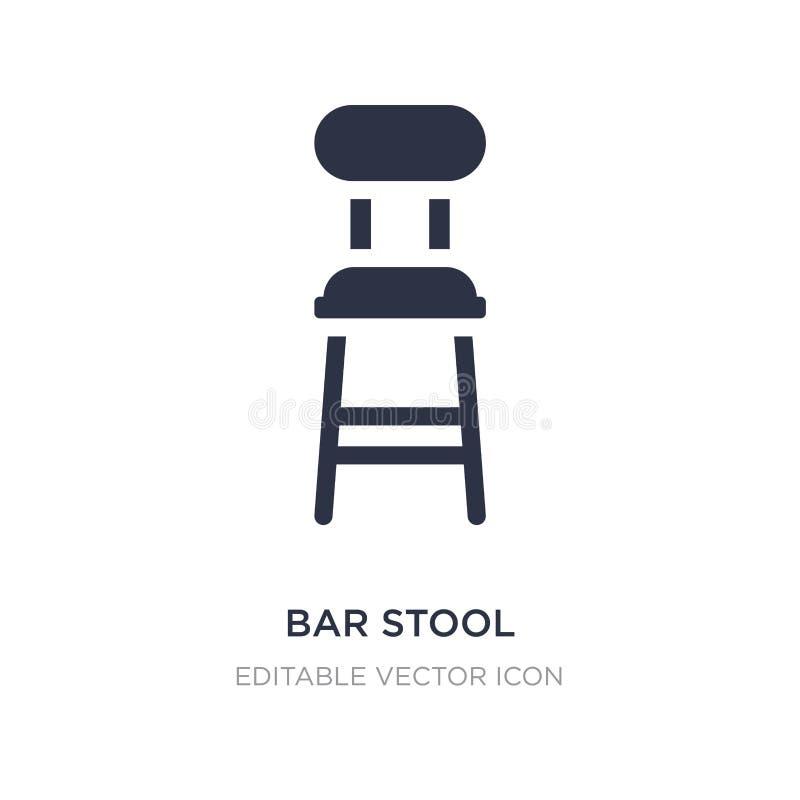 Icône de tabouret de bar sur le fond blanc Illustration simple d'élément de concept de bâtiments illustration stock