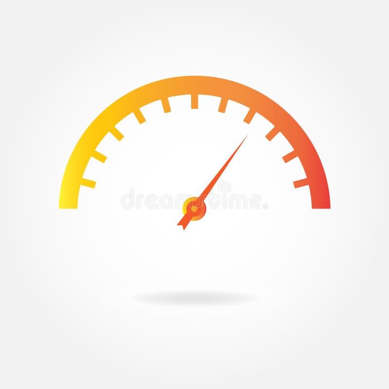 Icône de tachymètre Élément de conception de mètre ou de mesure Illustration de vecteur d'instruments de voiture illustration de vecteur