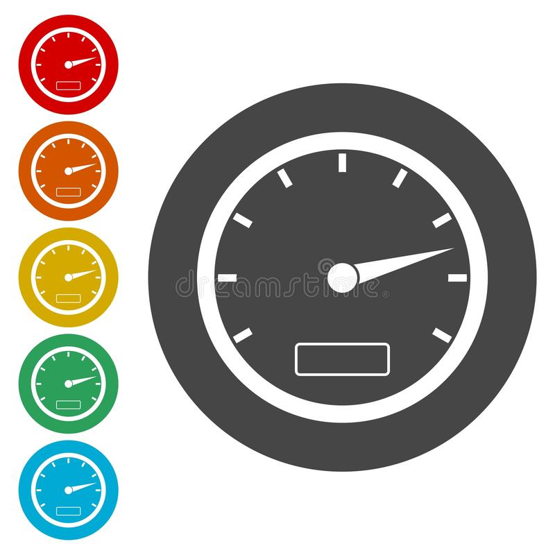 Icône de tachymètre illustration libre de droits