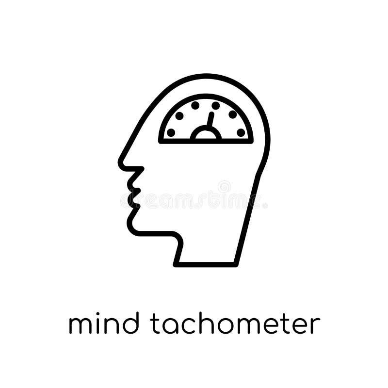 Icône de tachymètre d'esprit de collection de productivité illustration stock