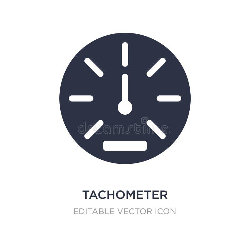 icône de tachymètre sur le fond blanc Illustration simple d'élément de concept de transport illustration de vecteur
