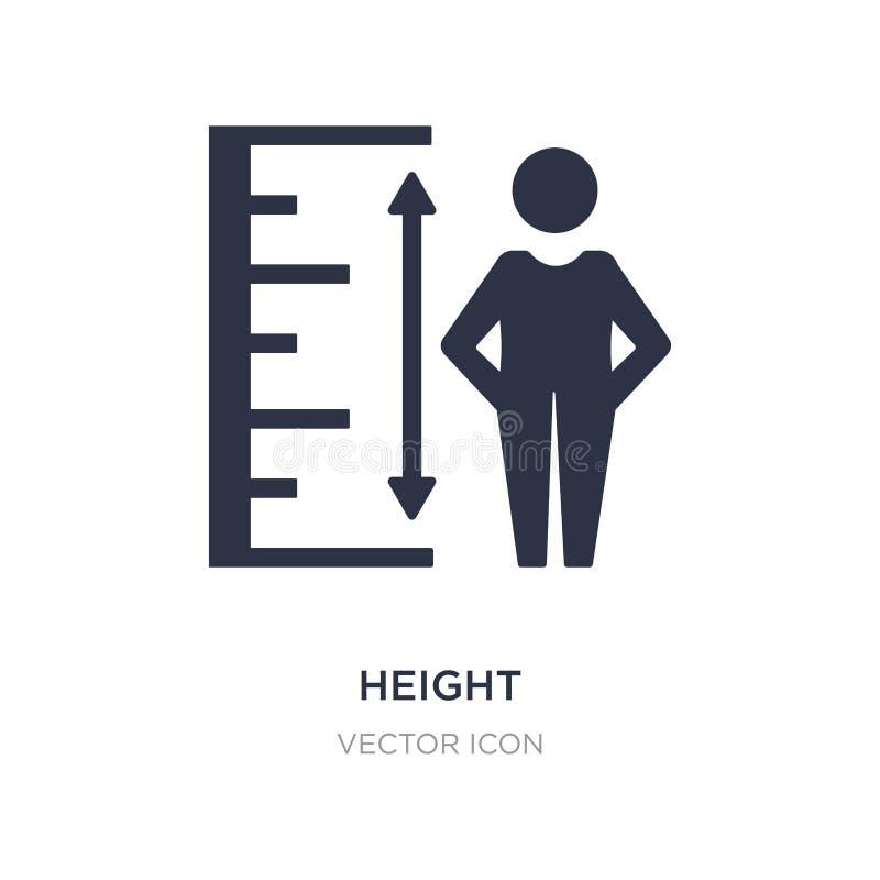 icône de taille sur le fond blanc Illustration simple d'élément de concept d'UI illustration de vecteur