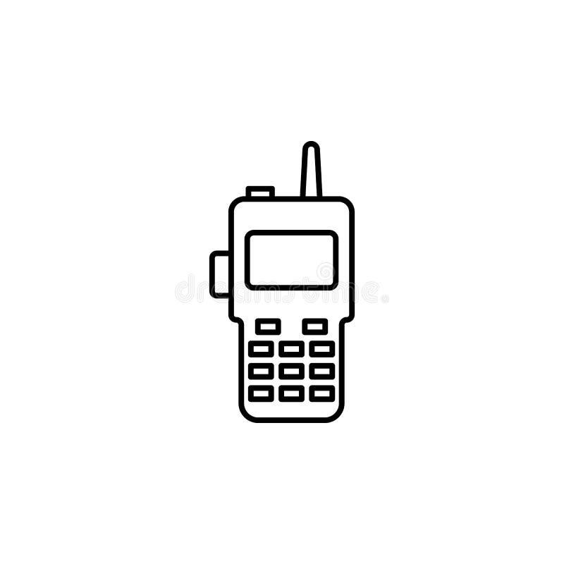 icône de talkie - walkie de police Élément d'icône de crime et de punition pour les apps mobiles de concept et de Web Ligne mince illustration stock