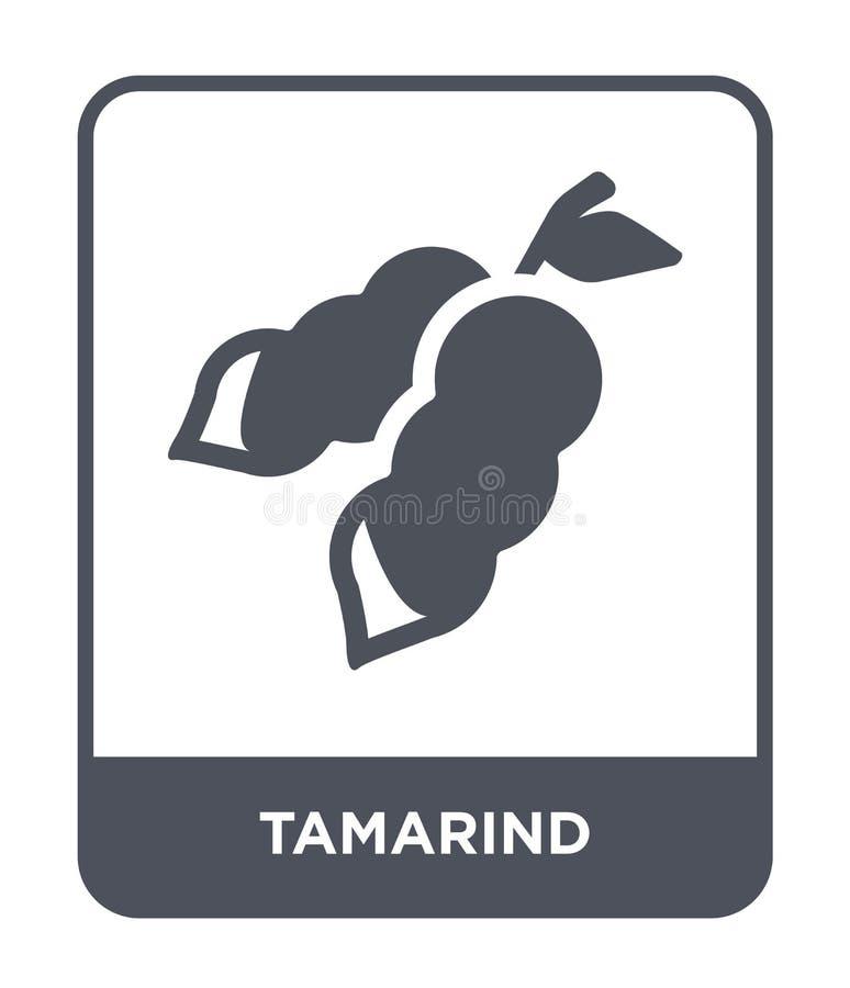 icône de tamarinier dans le style à la mode de conception icône de tamarinier d'isolement sur le fond blanc appartement simple et illustration stock