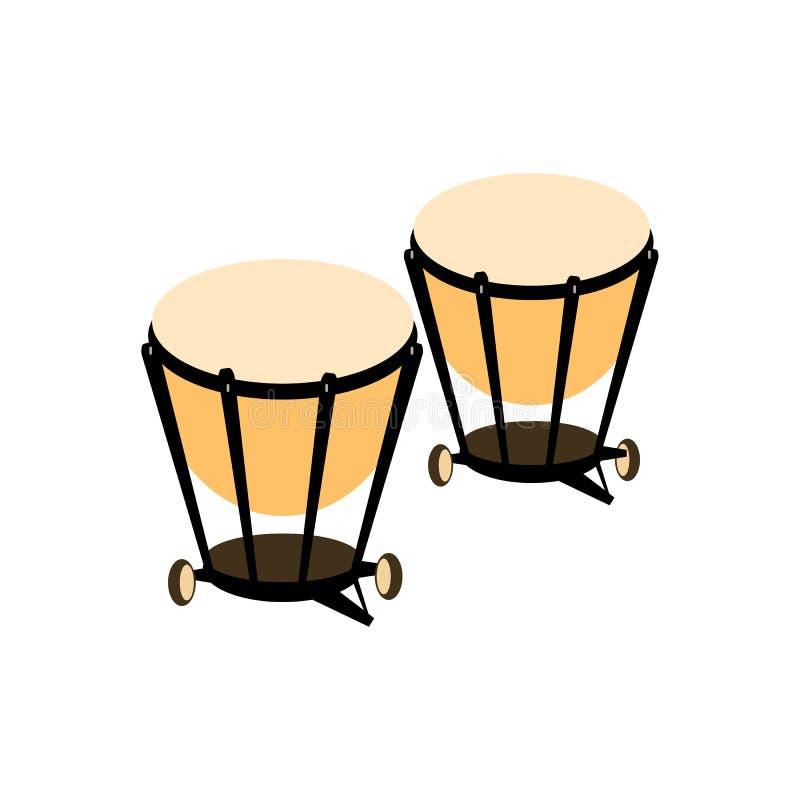 Icône de tambour de percussion Illustration de vecteur illustration de vecteur