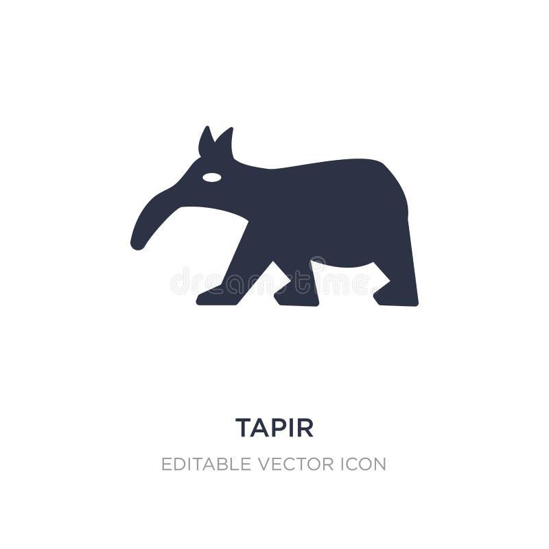icône de tapir sur le fond blanc Illustration simple d'élément de concept d'animaux illustration stock