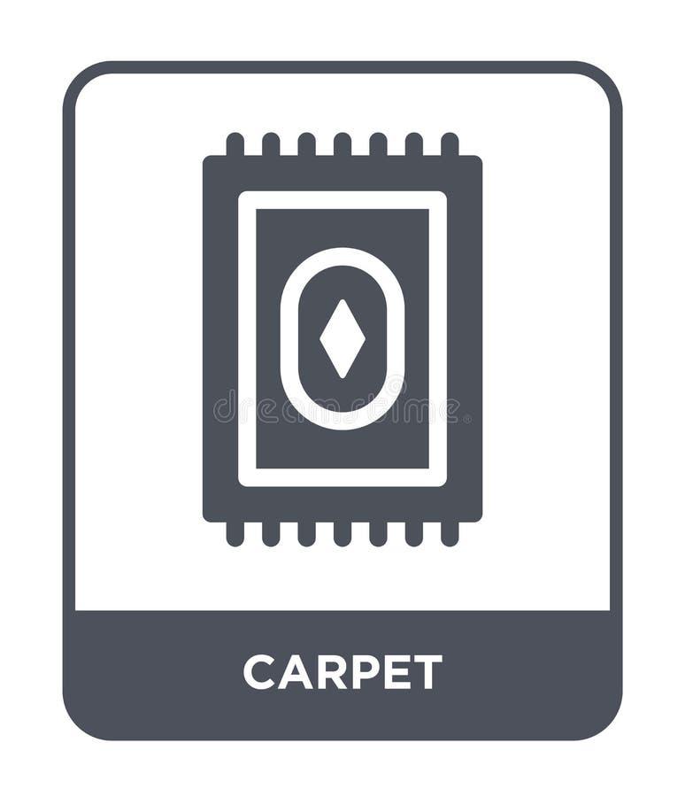 icône de tapis dans le style à la mode de conception icône de tapis d'isolement sur le fond blanc symbole plat simple et moderne  illustration stock