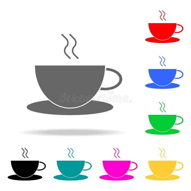 Icône de tasse de café Éléments dans les icônes colorées multi pour les apps mobiles de concept et de Web Icônes pour la concepti illustration stock