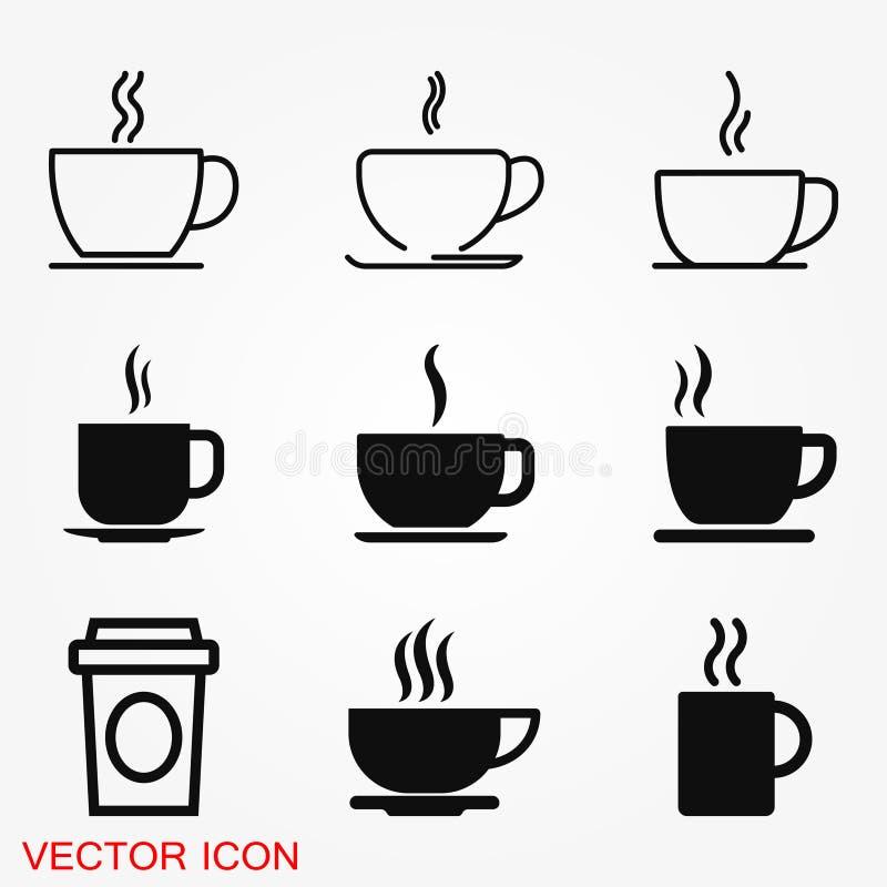Icône de tasse de café Illustration de Web d'actions de symbole de vecteur de boissons de café illustration libre de droits