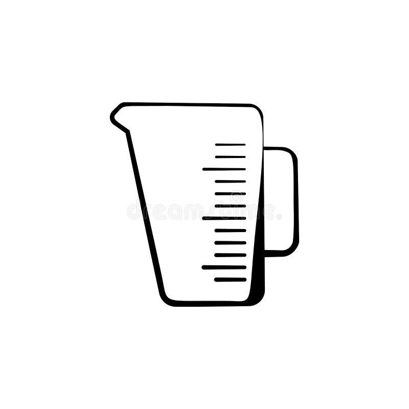 Icône de tasse de mesure de cuisine Élément d'icône de boulangerie Conception graphique de qualité de la meilleure qualité Signes illustration stock