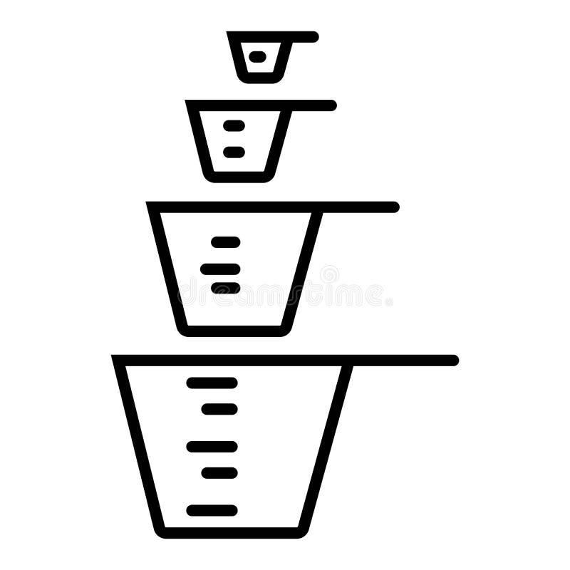 Icône de tasse de mesure illustration de vecteur