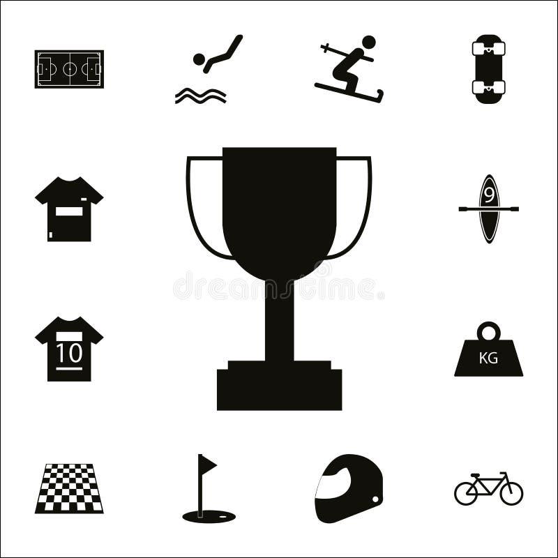 Icône de tasse de trophée de gagnant Ensemble détaillé d'icônes de sport Signe de la meilleure qualité de conception graphique de illustration stock