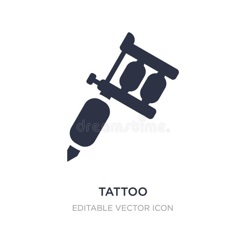 icône de tatouage sur le fond blanc Illustration simple d'élément de concept d'outils et d'ustensiles illustration libre de droits