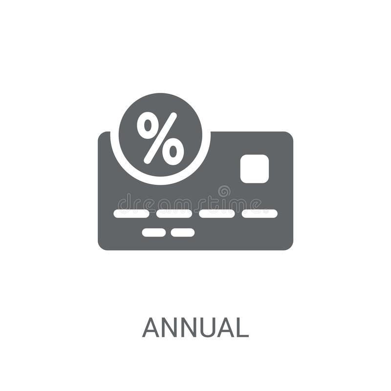 Icône de taux des pourcentages annuel (AVR.)  illustration de vecteur