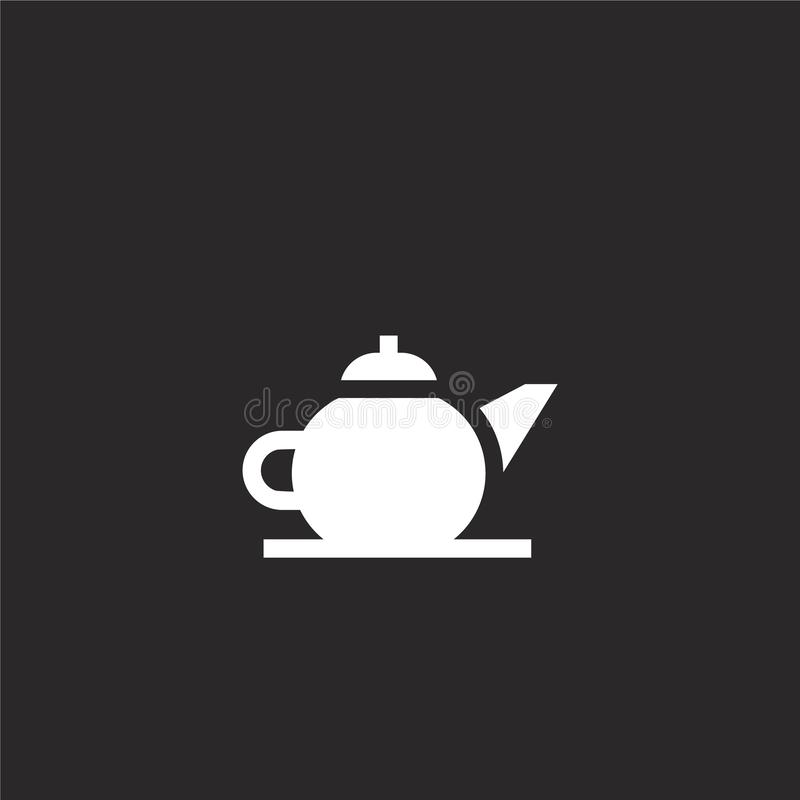 icône de teapot Icône de théière remplie pour la conception de sites Web et le développement d'applications mobiles icône en form illustration libre de droits