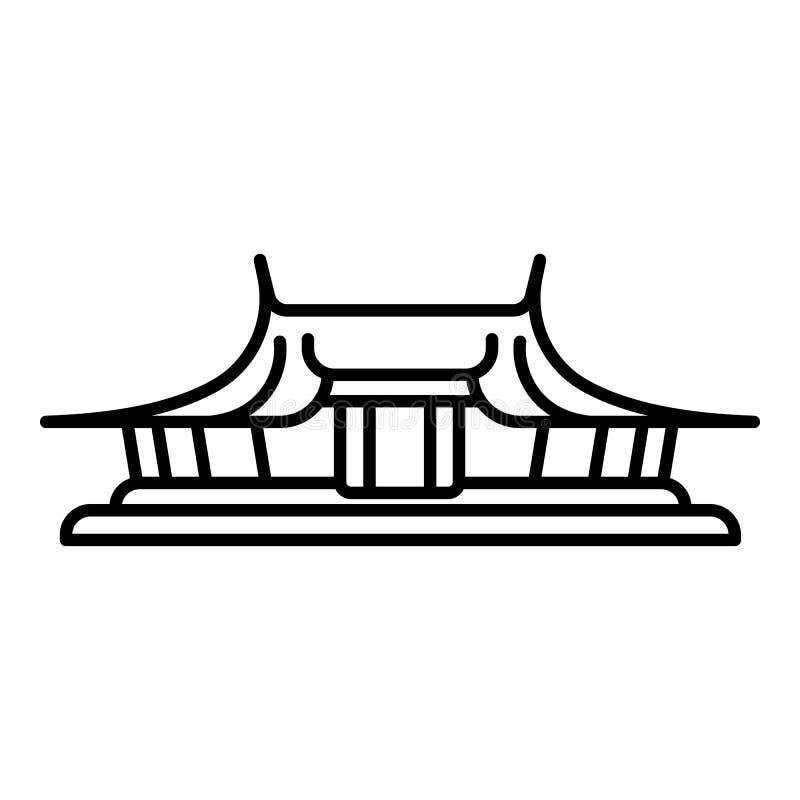 Icône de temple de Taïpeh, style d'ensemble illustration libre de droits