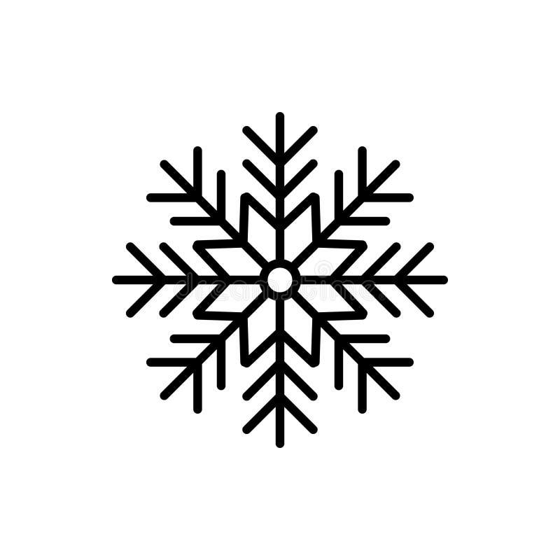 Icône de temps de silhouette de flocon de neige Illustration plate de vecteur image stock