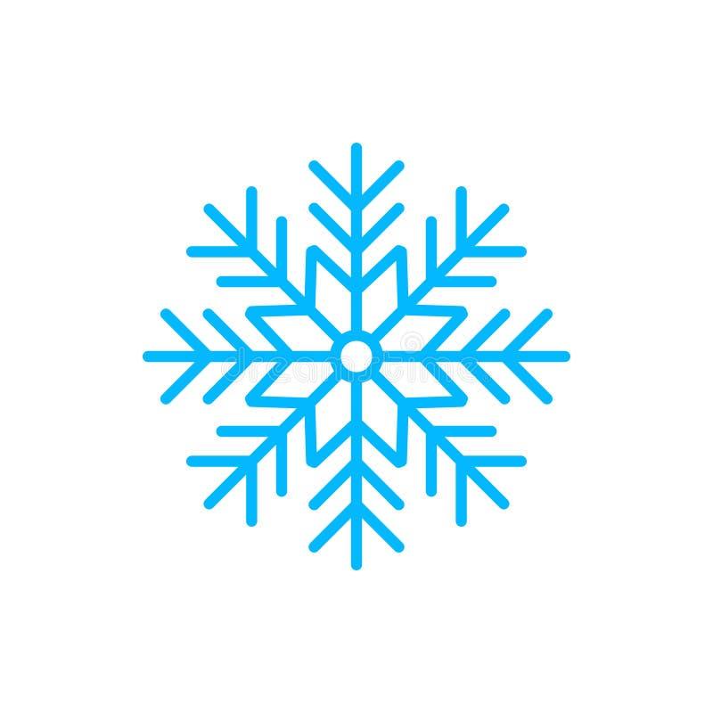 Icône de temps de silhouette de flocon de neige Illustration plate de vecteur photographie stock libre de droits