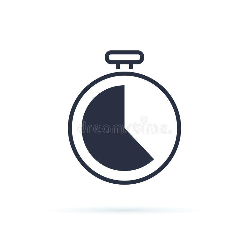 Icône de temps Vecteur d'icône d'horloge Date-butoir d'affaires, compte à rebours dans le sens horaire, icône d'heures de travail illustration de vecteur