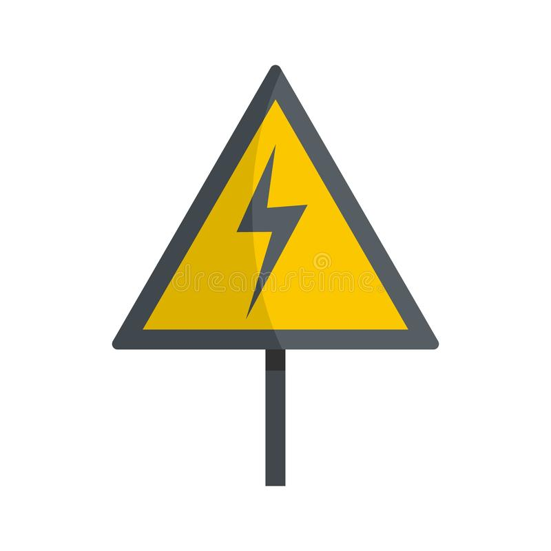 Icône de tension, style plat illustration de vecteur