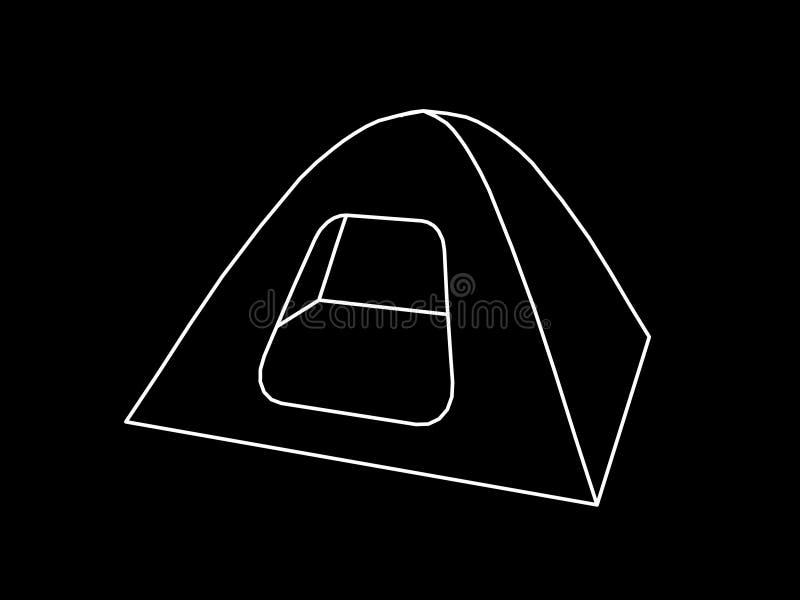 Icône de tente de camping Illustration d'ensemble de vecteur illustration stock